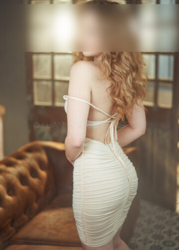 Escort in a sexy tight dress
